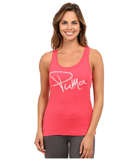 PUMA - Logo Tank Top (Geranium) Women's Sleeveless