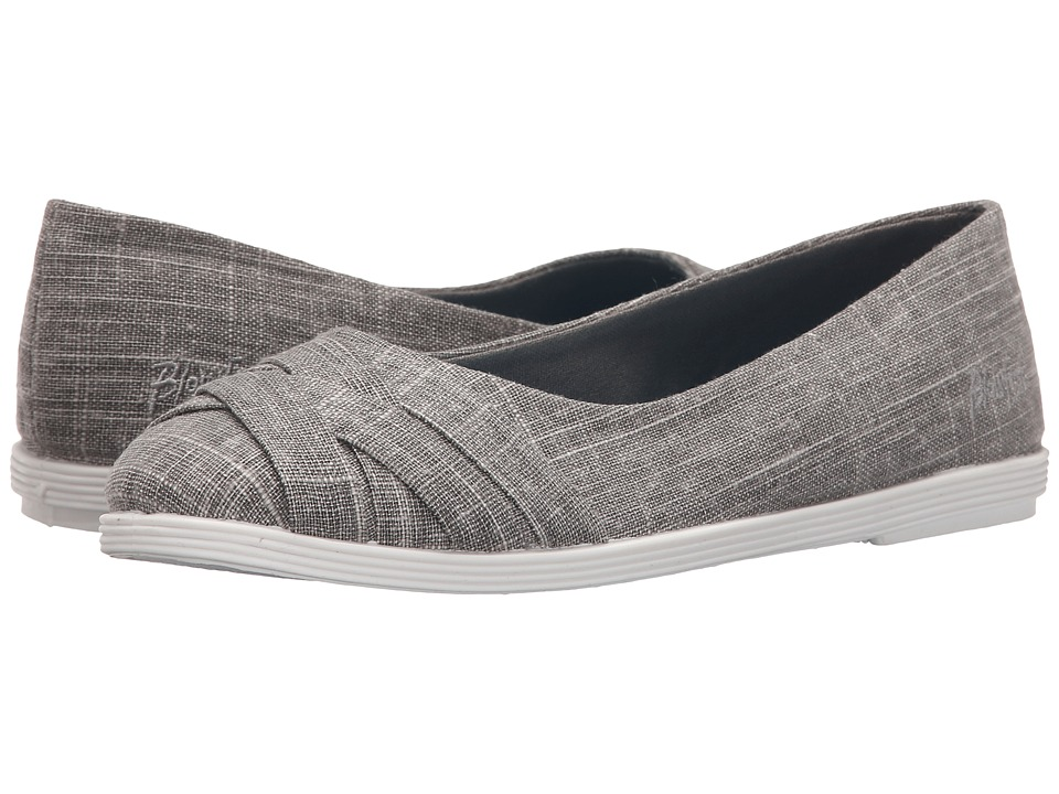 Blowfish - Glo (Steel Grey Cozumel Linen) Women's Flat Shoes