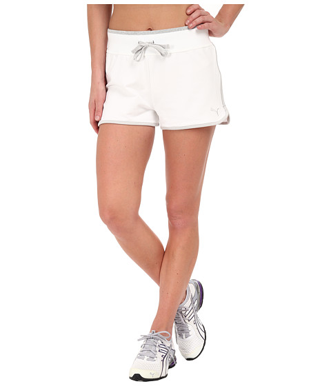 PUMA - Sweat Shorts (White Limestone) Women's Shorts