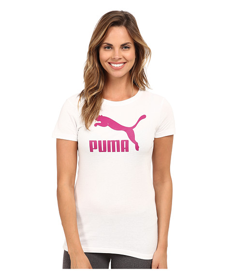 PUMA - Large Logo Tee (White) Women