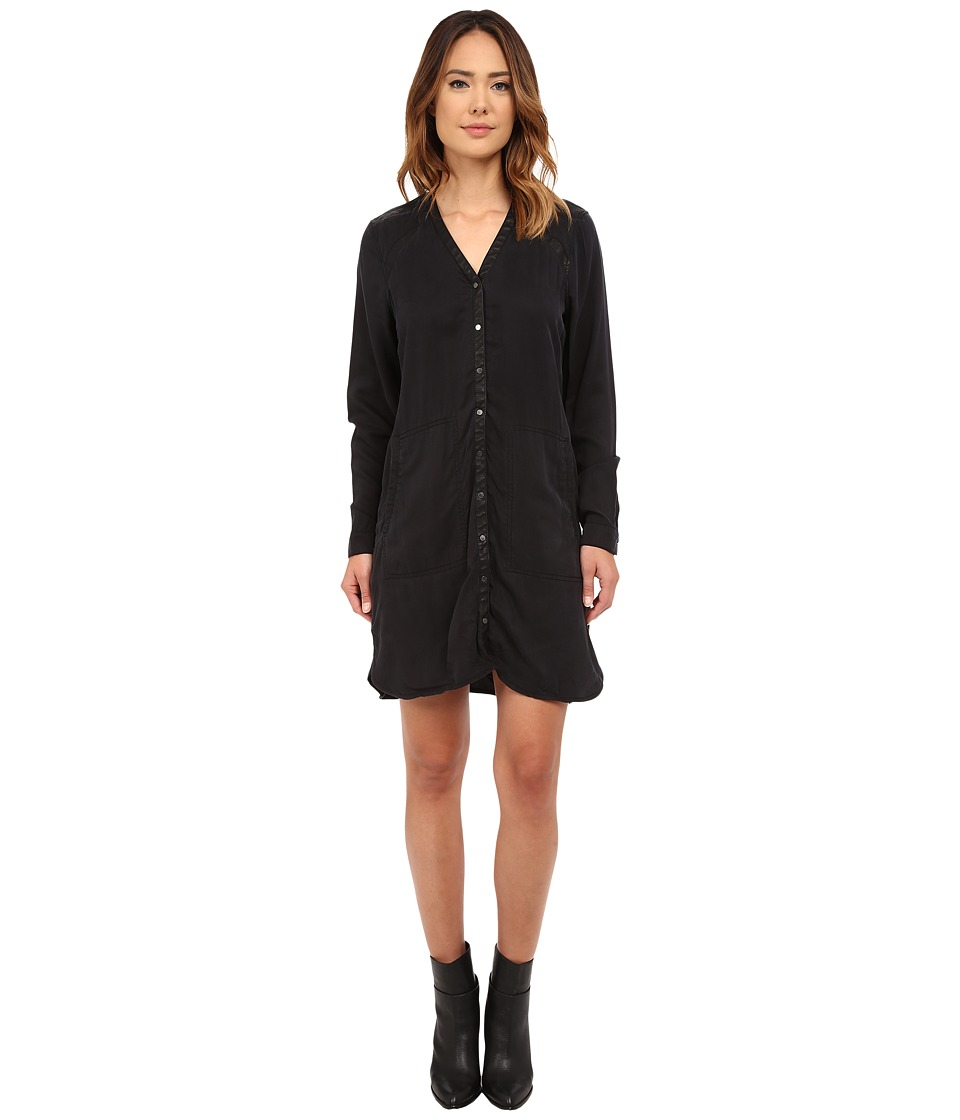 Blank NYC - Black Tunic Dress w/ Vegan Leather Detail in One Hitter (One Hitter) Women's Dress