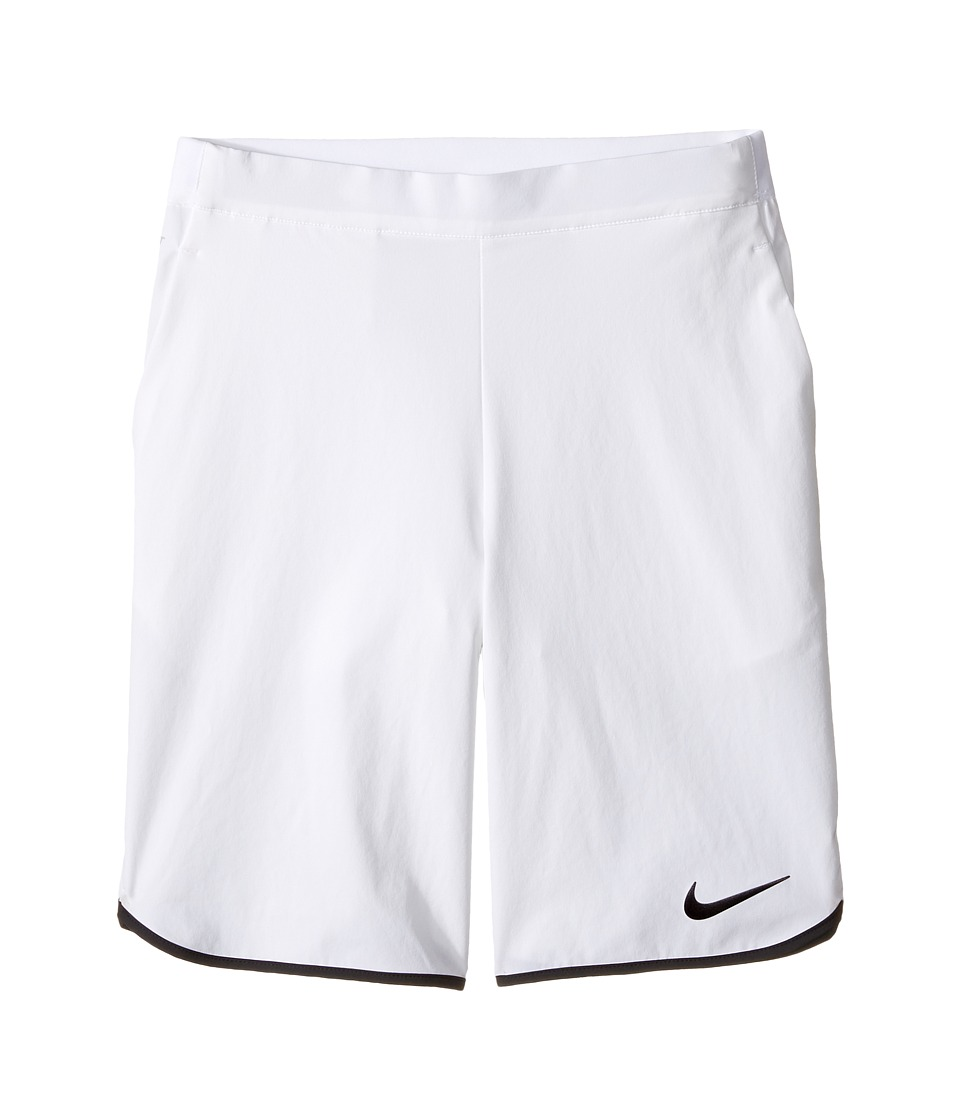 Nike Kids - Gladiator Tennis Short (Little Kids/Big Kids) (White/Black/White/Black) Boy's Shorts