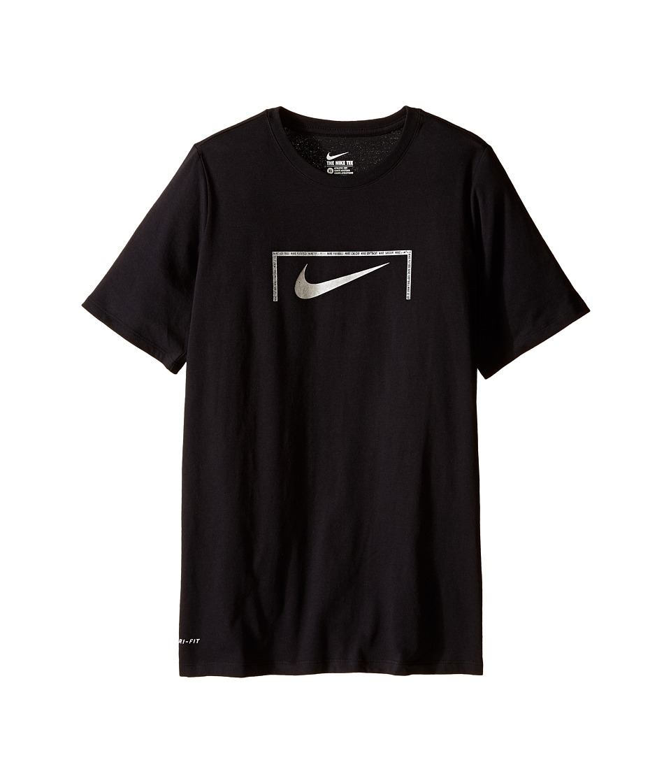 Nike Kids - Swoosh Goal Tee (Little Kids/Big Kids) (Black/Black) Boy's T Shirt