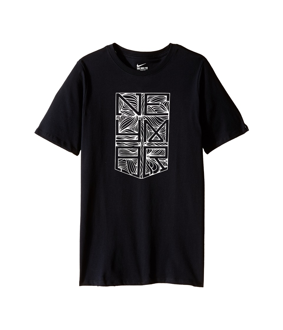 Nike Kids - Neymar Logo Tee (Little Kids/Big Kids) (Black/Black) Boy's T Shirt
