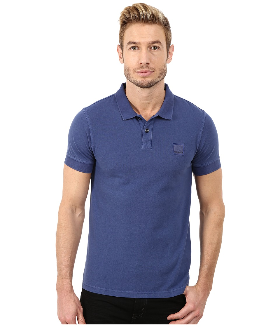 BOSS Orange - Pascha Slim Fit Saltwash Piquet Polo (Navy) Men's Short Sleeve Pullover