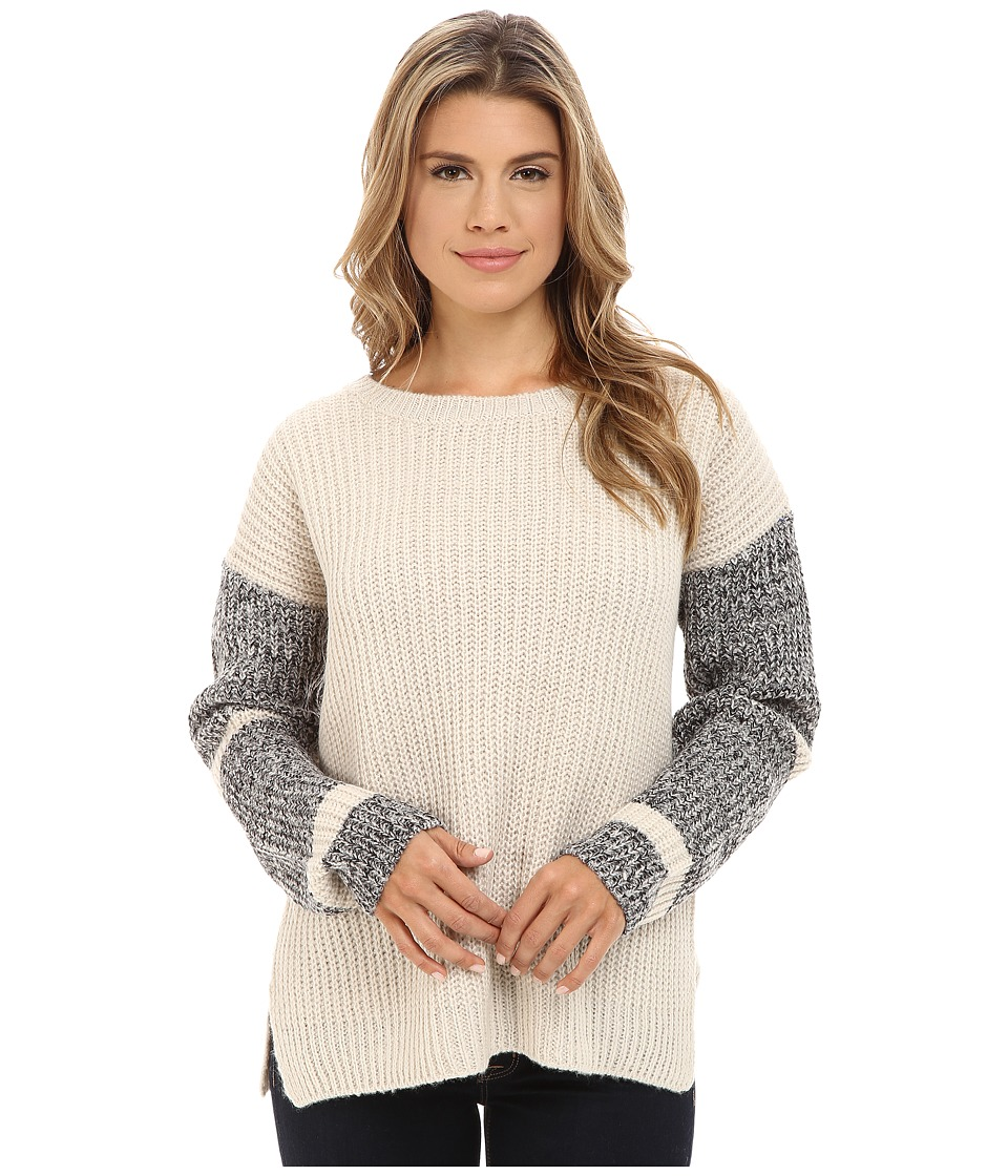 Blank NYC - Beige Sweater with Detailed Sleeves in Can