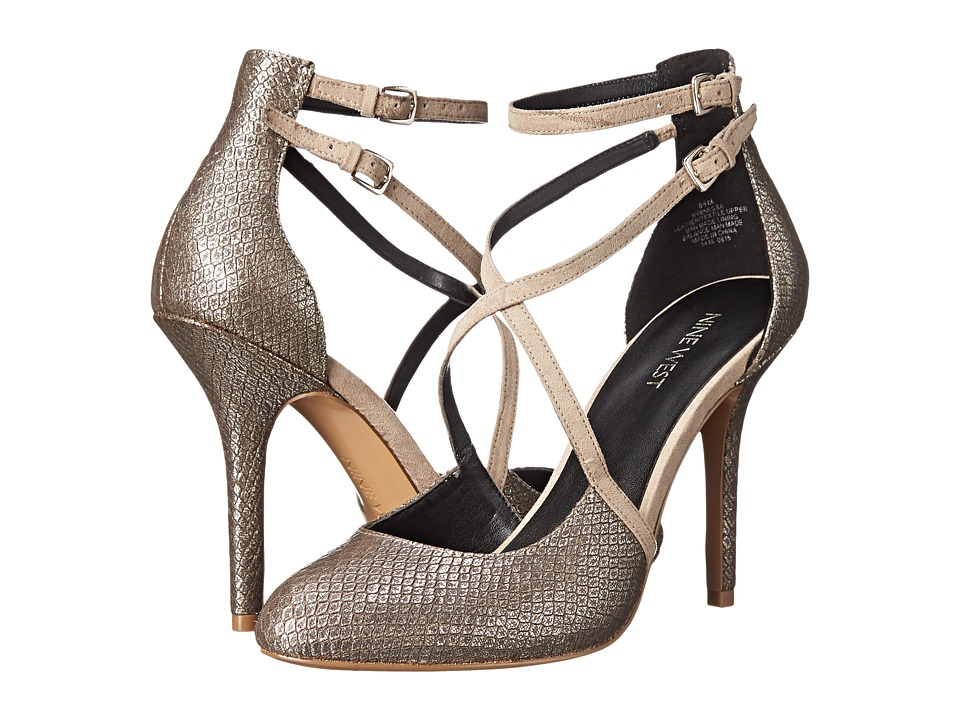 Nine West - Inessa (Light Gold/Light Natural Metallic) High Heels