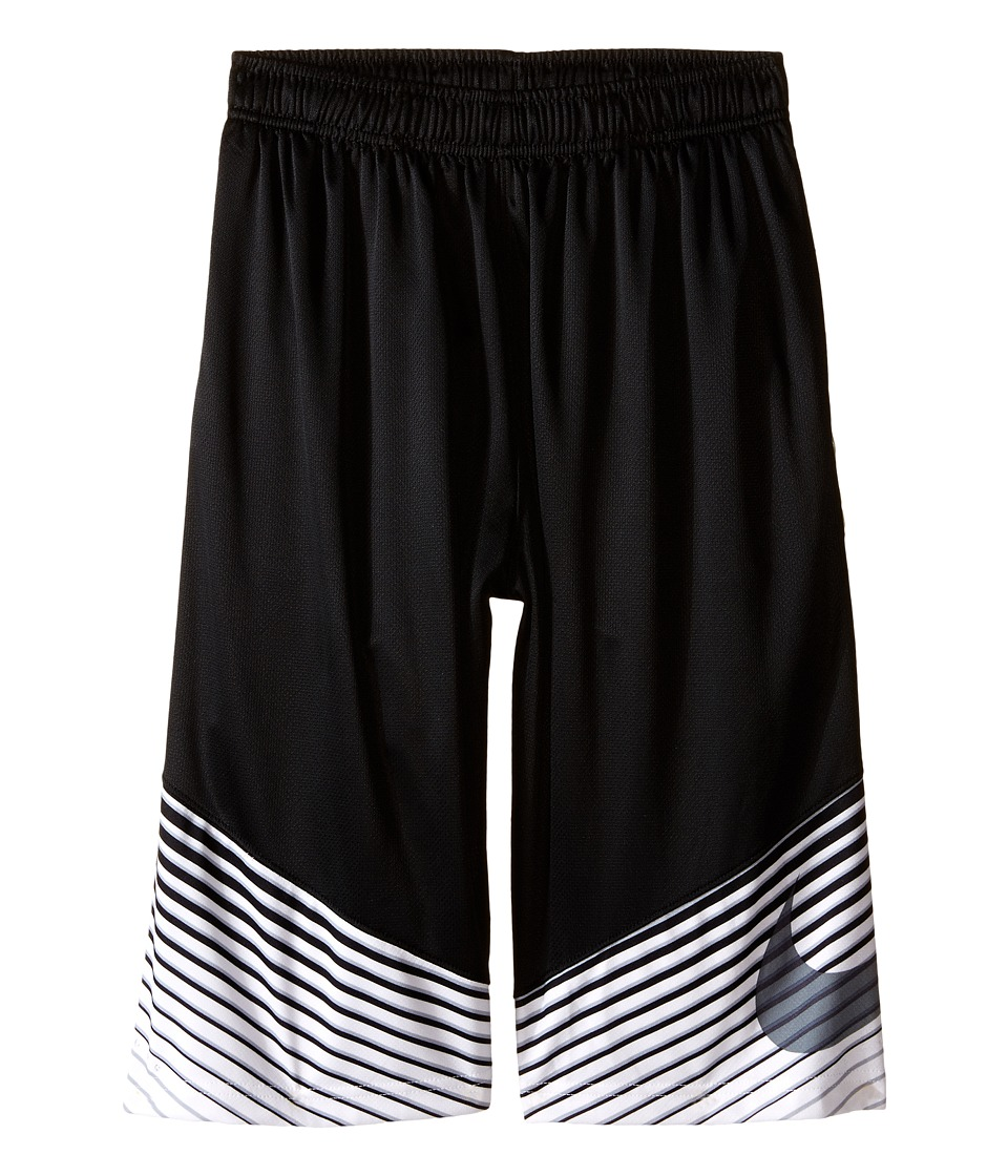 Nike Kids - Elite Performance Basketball Short (Little Kids/Big Kids) (Black/White/Wolf Grey/Metallic Silver) Boy's Shorts
