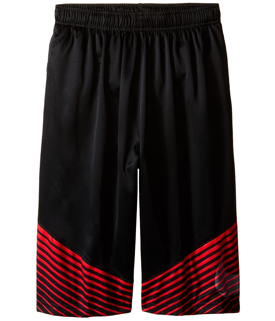 Nike Kids - Elite Performance Basketball Short (Little Kids/Big Kids) (Black/University Red/Light Crimson/Metallic Silver) Boy's Shorts
