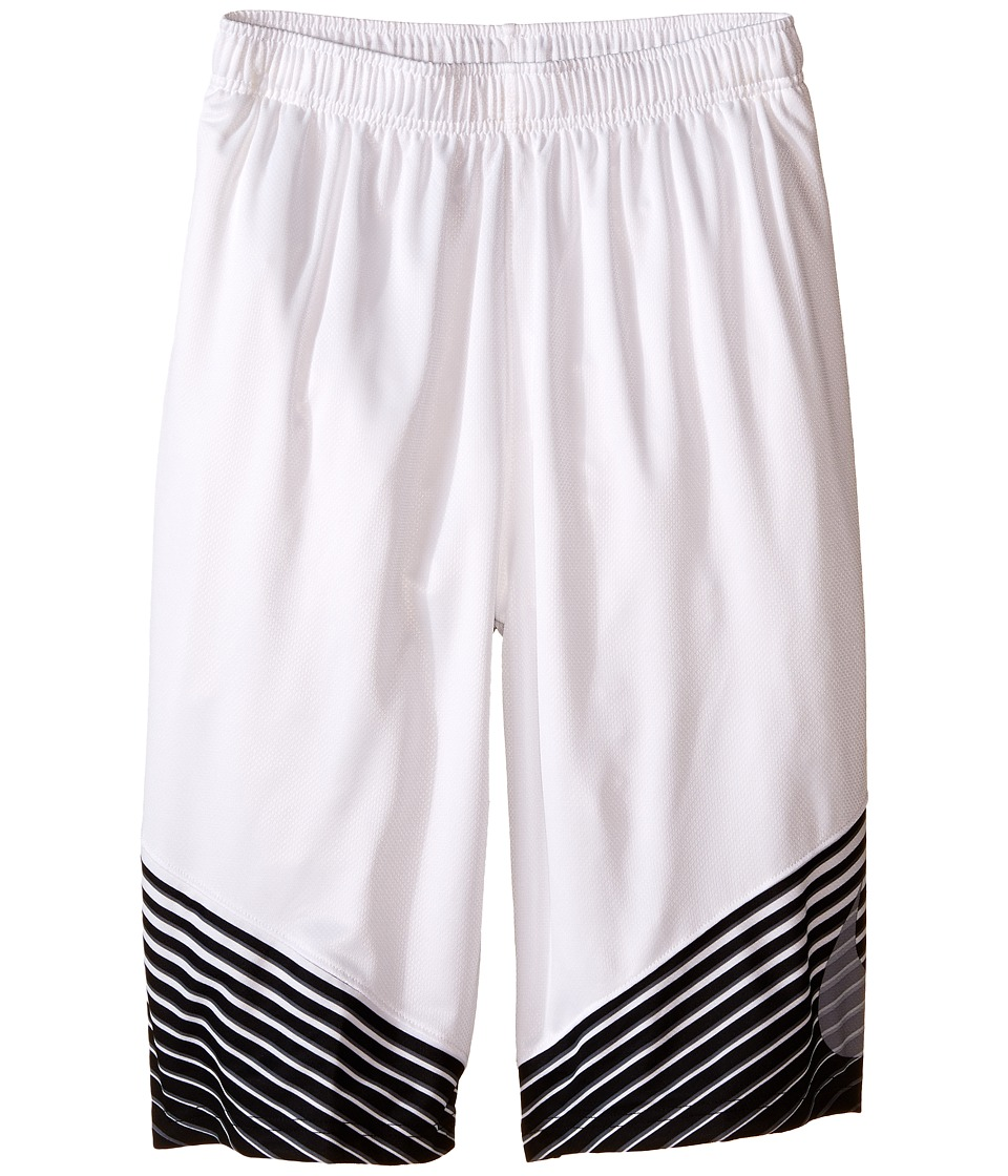 Nike Kids - Elite Performance Basketball Short (Little Kids/Big Kids) (White/Black/Cool Grey/Metallic Silver) Boy's Shorts