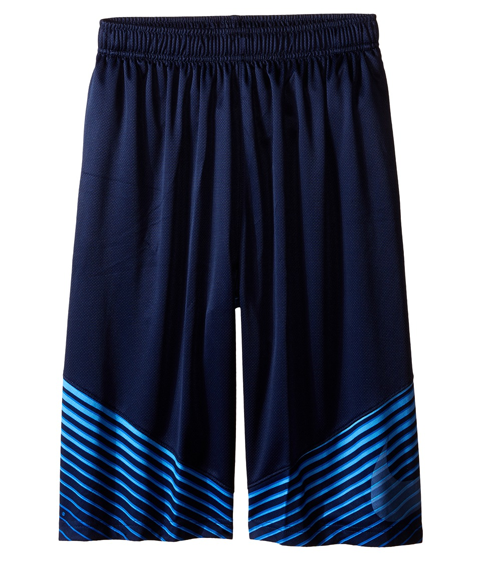 Nike Kids - Elite Performance Basketball Short (Little Kids/Big Kids) (Midnight Navy/Game Royal/White/Metallic Silver) Boy's Shorts