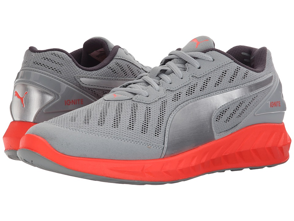 PUMA - Ignite Ultimate (Quarry/Red Blast) Men's Running Shoes