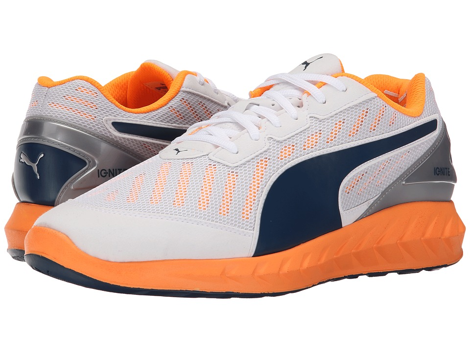 PUMA - Ignite Ultimate (White/Orange Pop/Blue Wing Teal) Men