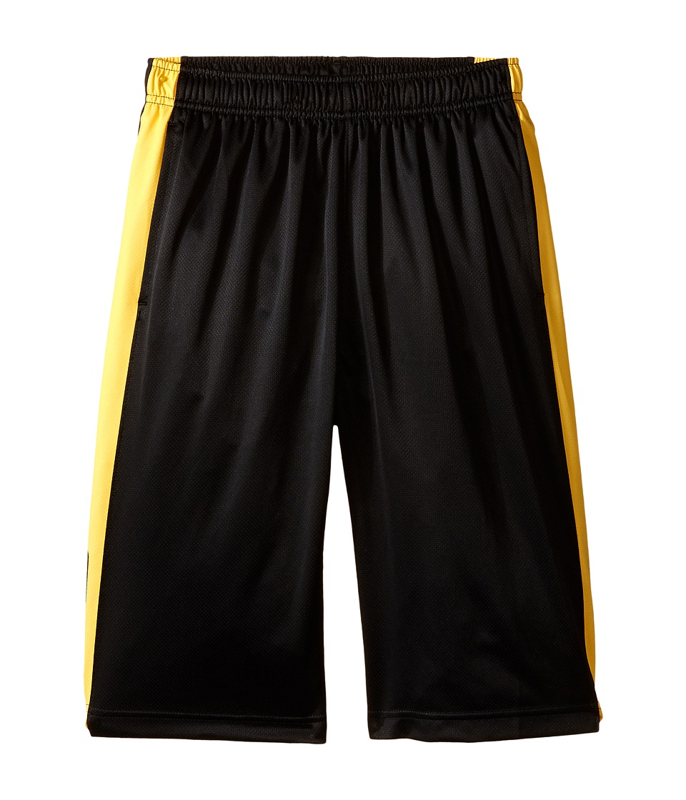 Nike Kids - Elite Stripe Short (Little Kids/Big Kids) (Black/Varsity Maize/Metallic Silver) Boy's Workout