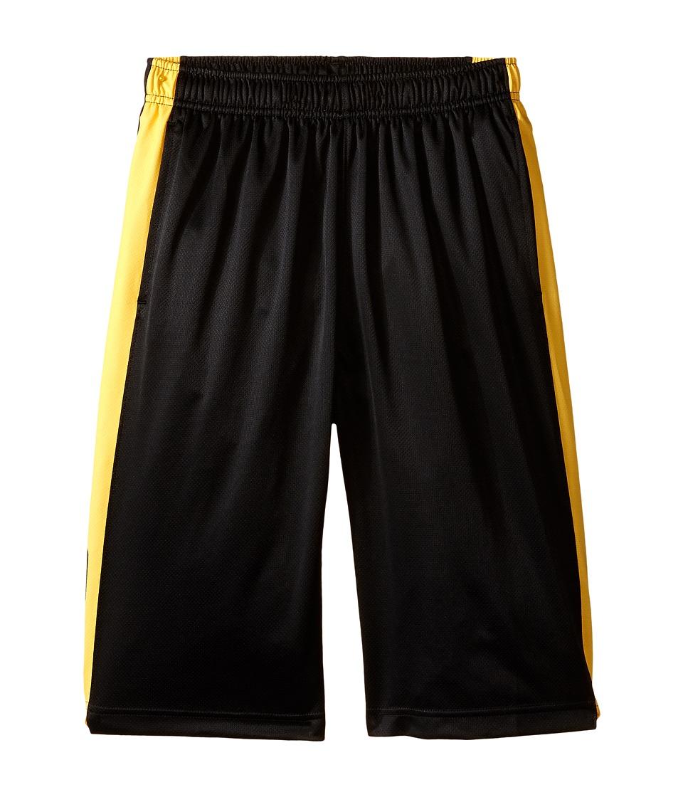 Nike Kids - Elite Stripe Short (Little Kids/Big Kids) (Black/Varsity Maize/Metallic Silver) Boy's Workout