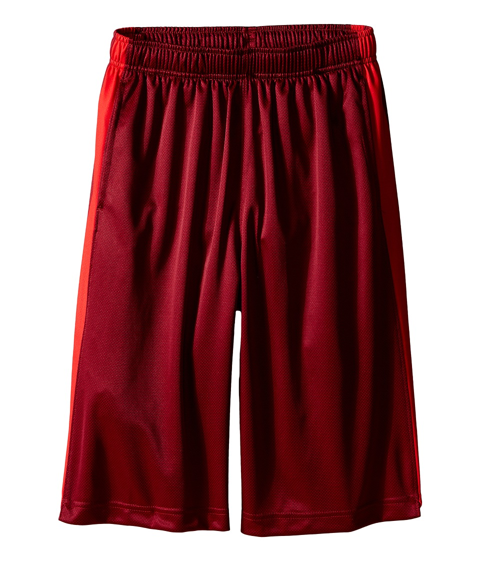 Nike Kids - Elite Stripe Short (Little Kids/Big Kids) (Team Red/Black/Metallic Silver) Boy's Workout