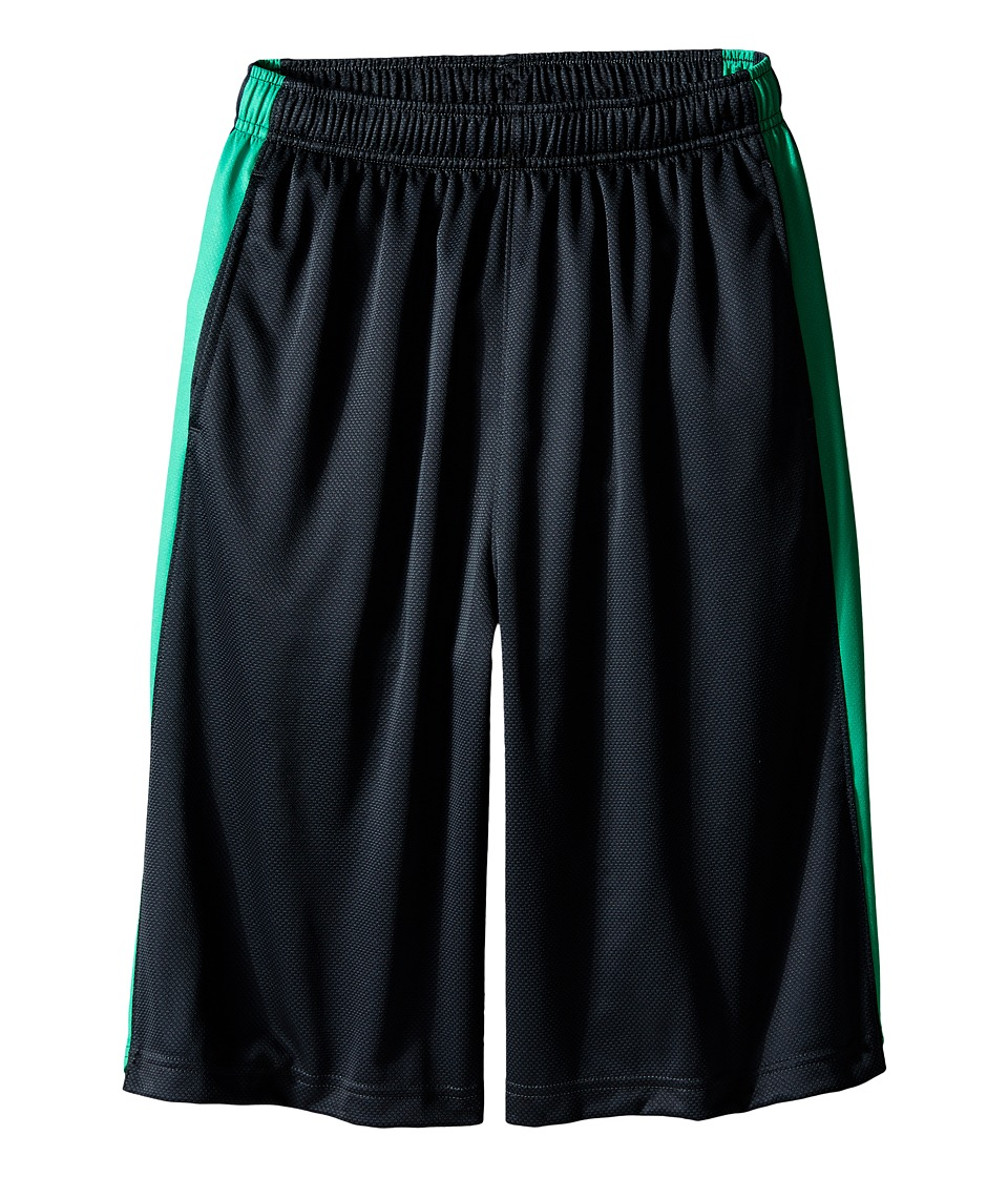 Nike Kids - Elite Stripe Short (Little Kids/Big Kids) (Anthracite/Spring Leaf/Metallic Silver) Boy's Workout