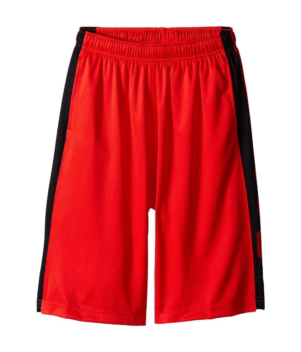 Nike Kids - Elite Stripe Short (Little Kids/Big Kids) (Light Crimson/Black/Black/Metallic Silver) Boy's Workout