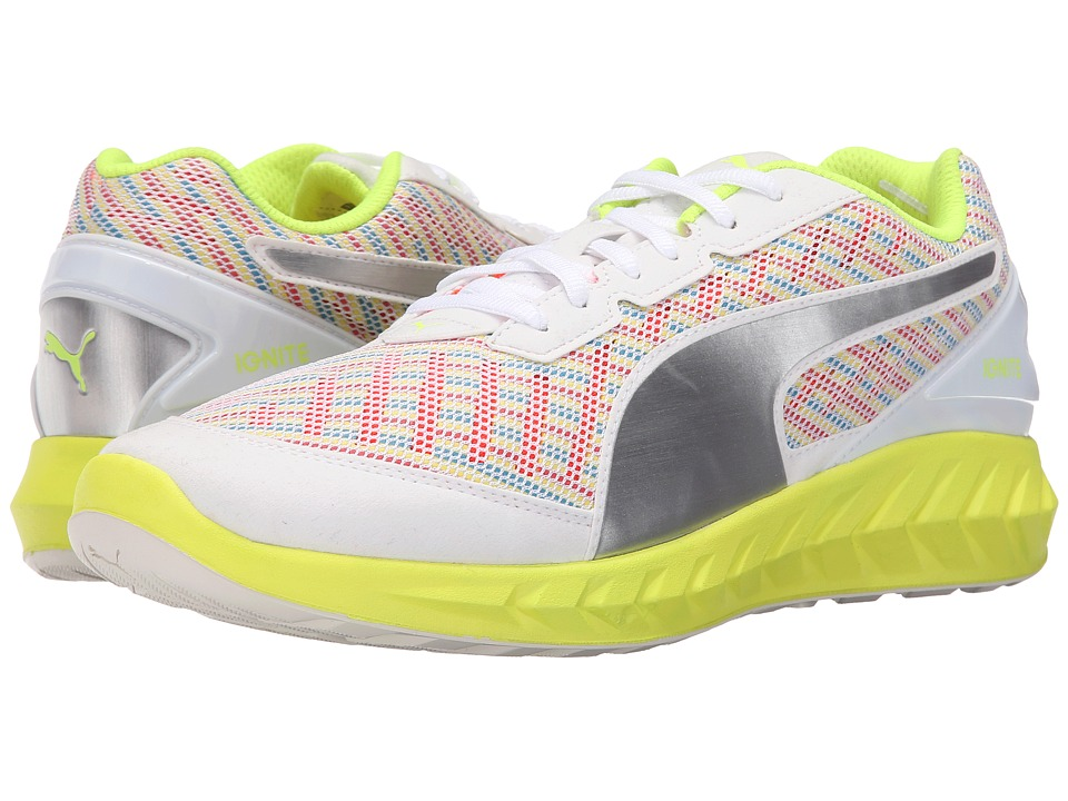 PUMA - Ignite Ultimate Multi (White/Safety Yellow) Men's Running Shoes