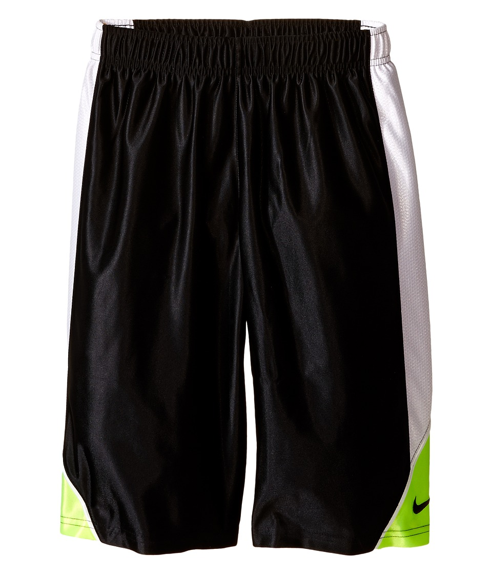 Nike Kids - Dunk Shorts (Little Kids/Big Kids) (Black/White/Volt/Black) Boy's Shorts
