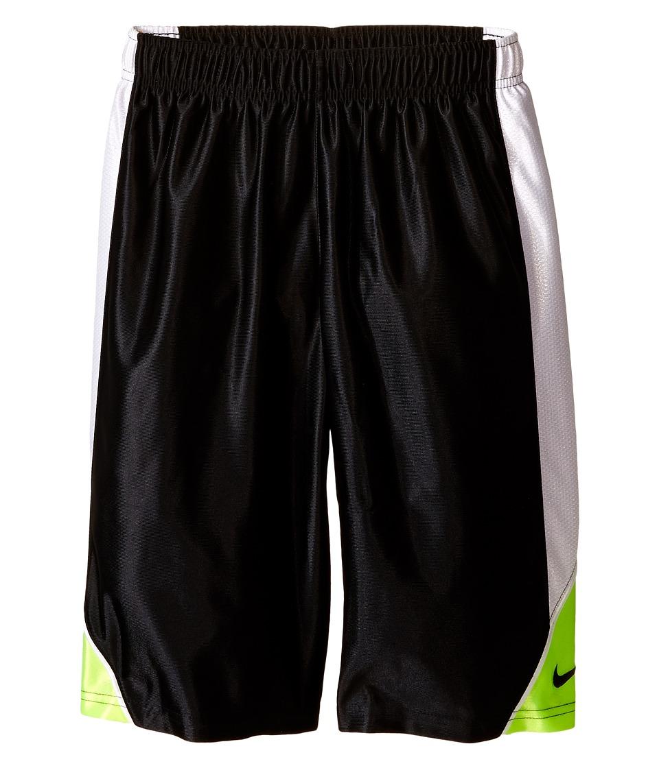 Nike Kids - Dunk Shorts (Little Kids/Big Kids) (Black/White/Volt/Black) Boy's Shorts