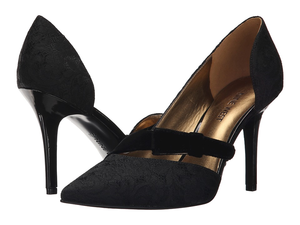 Nine West - Janice (Black Black/Black Fabric) Women's Shoes