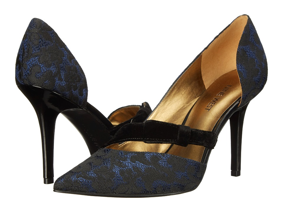 Nine West - Janice (Blue Black/Black Fabric) Women's Shoes