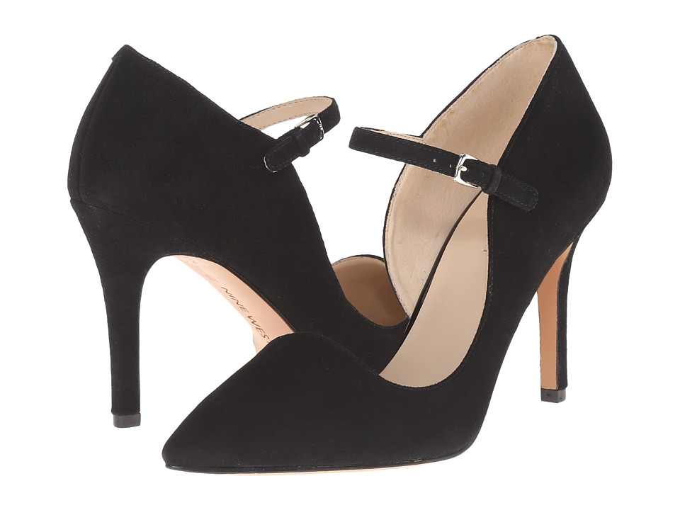 Nine West Jennelle Black Suede Womens Maryjane Shoes