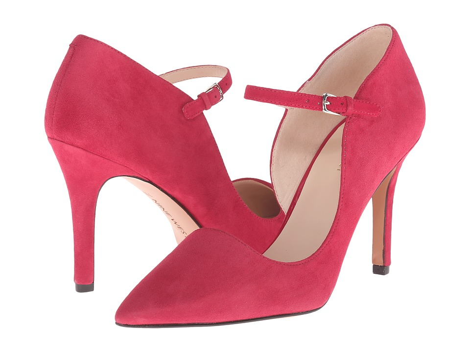 Nine West Jennelle Red Suede Womens Maryjane Shoes
