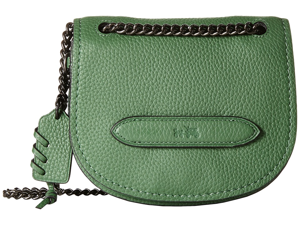 COACH - Pebbled Small Shadow Crossbody (Bp/Racing Green) Cross Body Handbags