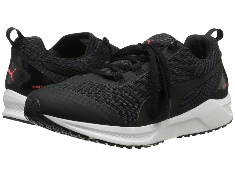 PUMA - Ignite XT Core (Asphalt/Black/Red Blast) Men's Running Shoes