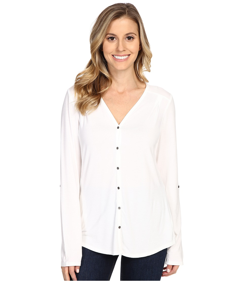 Columbia - All Who Wander Long Sleeve Top (White) Women's Long Sleeve Pullover