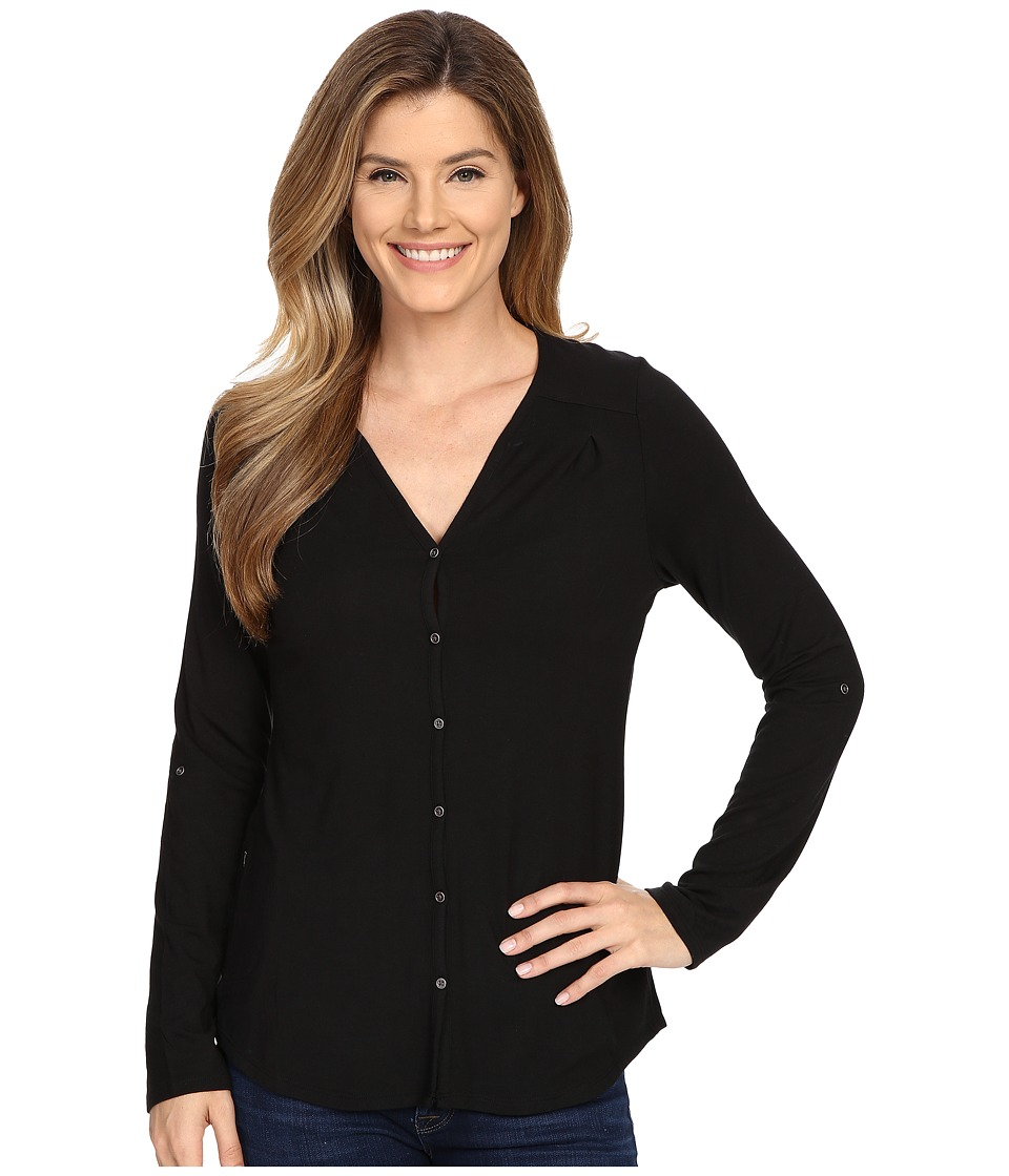 Columbia - All Who Wander Long Sleeve Top (Black) Women's Long Sleeve Pullover
