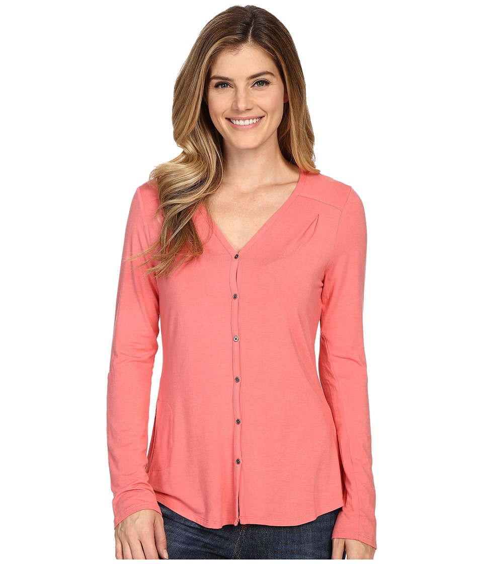 Columbia - All Who Wander Long Sleeve Top (Coral Bloom) Women's Long Sleeve Pullover