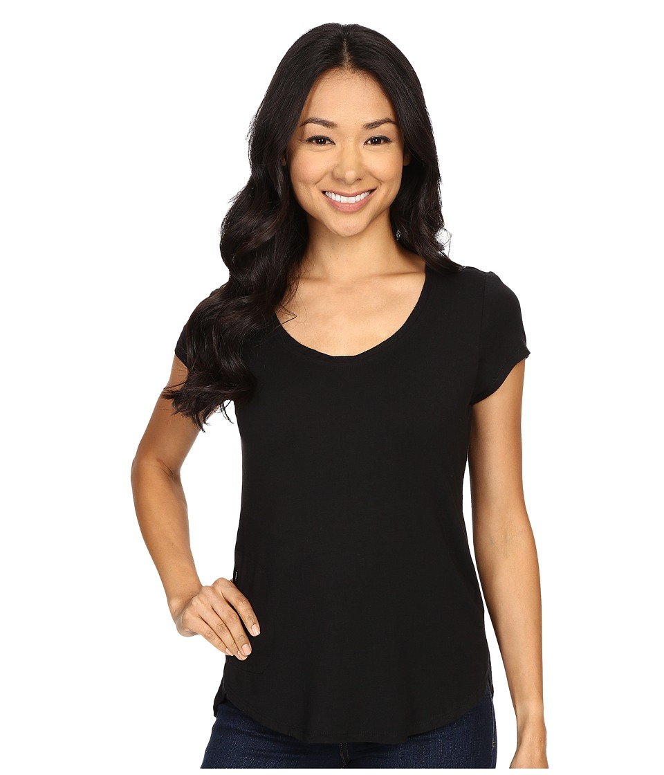 Columbia - All Who Wander Short Sleeve Top (Black) Women's Short Sleeve Pullover