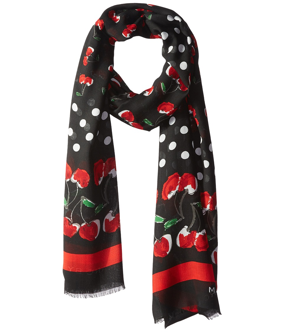 Marc by Marc Jacobs - Double Cherry Scarf (Black Multi) Scarves