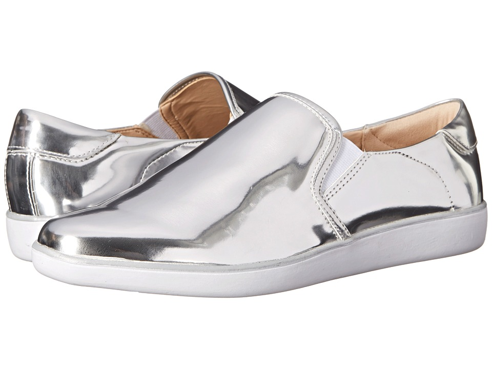Nine West - Lildevil (Silver/White Synthetic) Women's Slip on Shoes