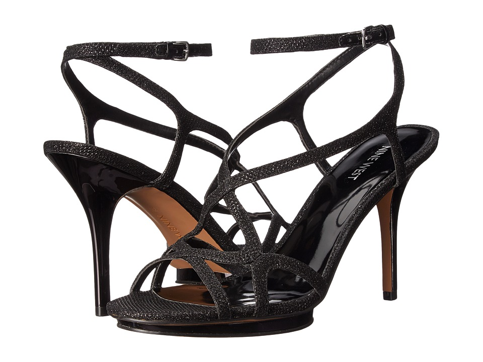 Nine West - Maire (Black Fabric) High Heels