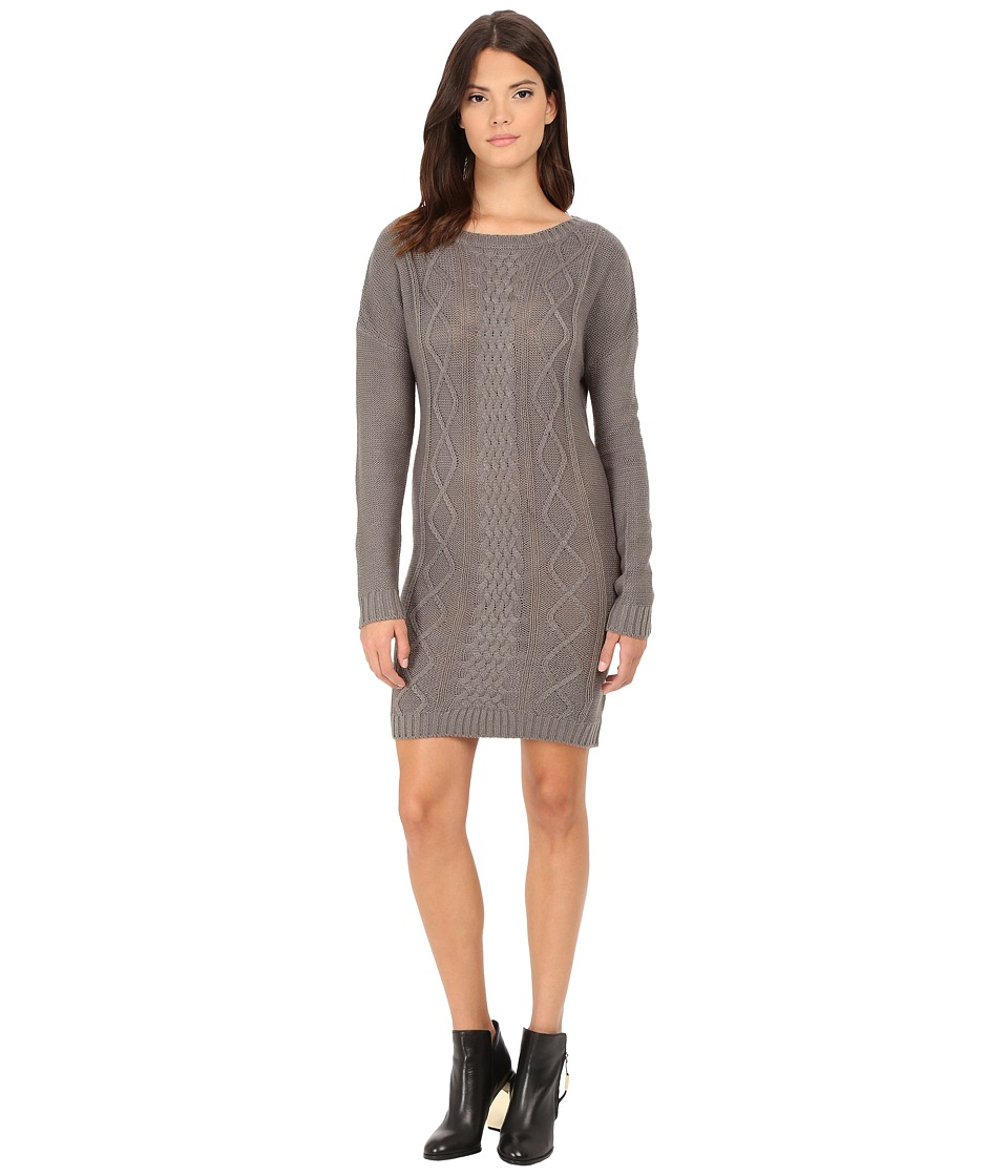 Jack by BB Dakota - Scout Diamond Cable Stitched Sweater Dress (Sky Grey) Women