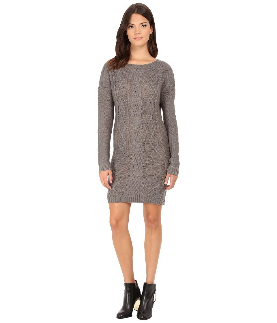 Jack by BB Dakota - Scout Diamond Cable Stitched Sweater Dress (Sky Grey) Women's Dress