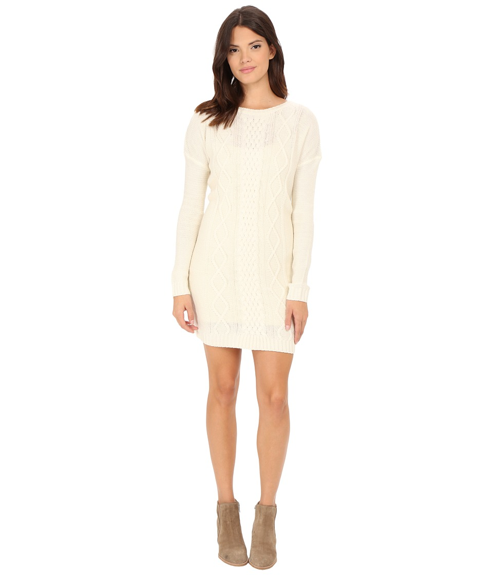 Jack by BB Dakota - Scout Diamond Cable Stitched Sweater Dress (Whisper White) Women's Dress