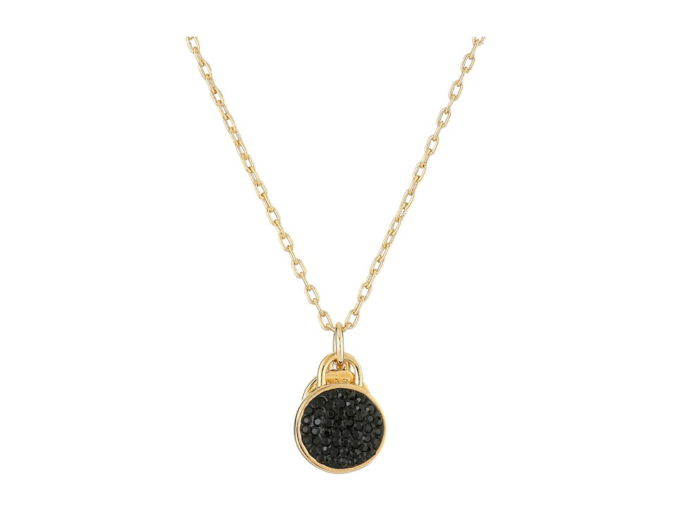 Marc by Marc Jacobs - Pave Disc Pendant Necklace (Black) Necklace
