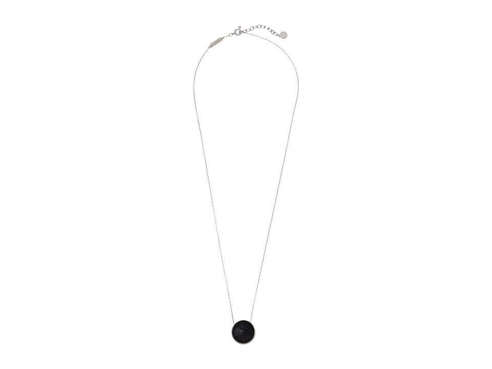Marc by Marc Jacobs - Pave Cabochon Pendant Necklace (Black Multi) Necklace