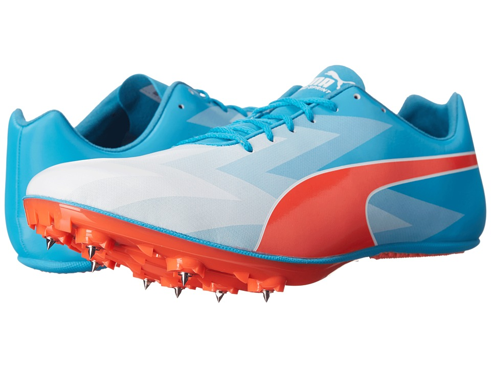 PUMA - evoSPEED Sprint v6 (Atomic Blue/Red Blast/White) Men