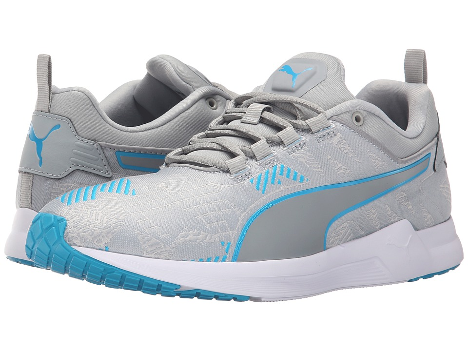 PUMA - Pulse XT v2 Woven (Quarry/White/Atomic Blue) Men's Running Shoes