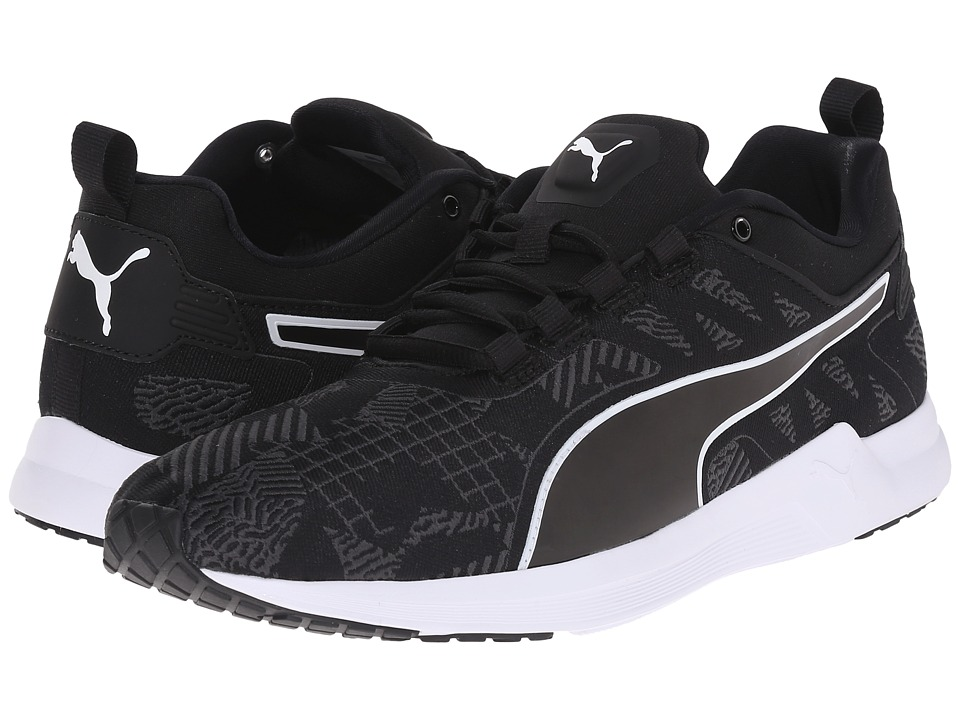 PUMA - Pulse XT v2 Woven (Black/White/Asphalt) Men's Running Shoes