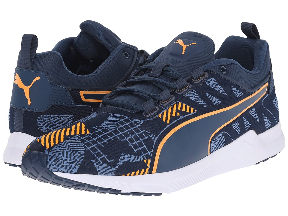 PUMA - Pulse XT v2 Woven (Blue Wing Teal/White/Orange Pop) Men's Running Shoes