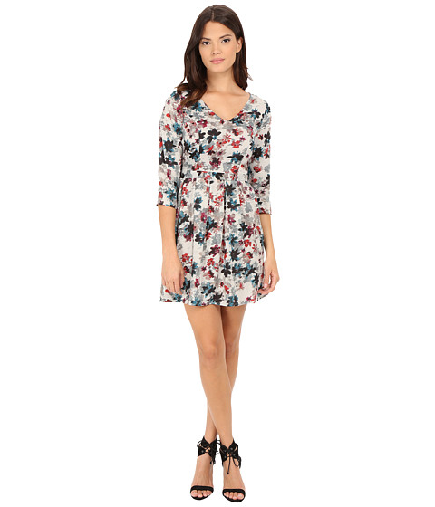Jack by BB Dakota - Calico Silver Bouquet Printed Sateen Dress (Multi) Women