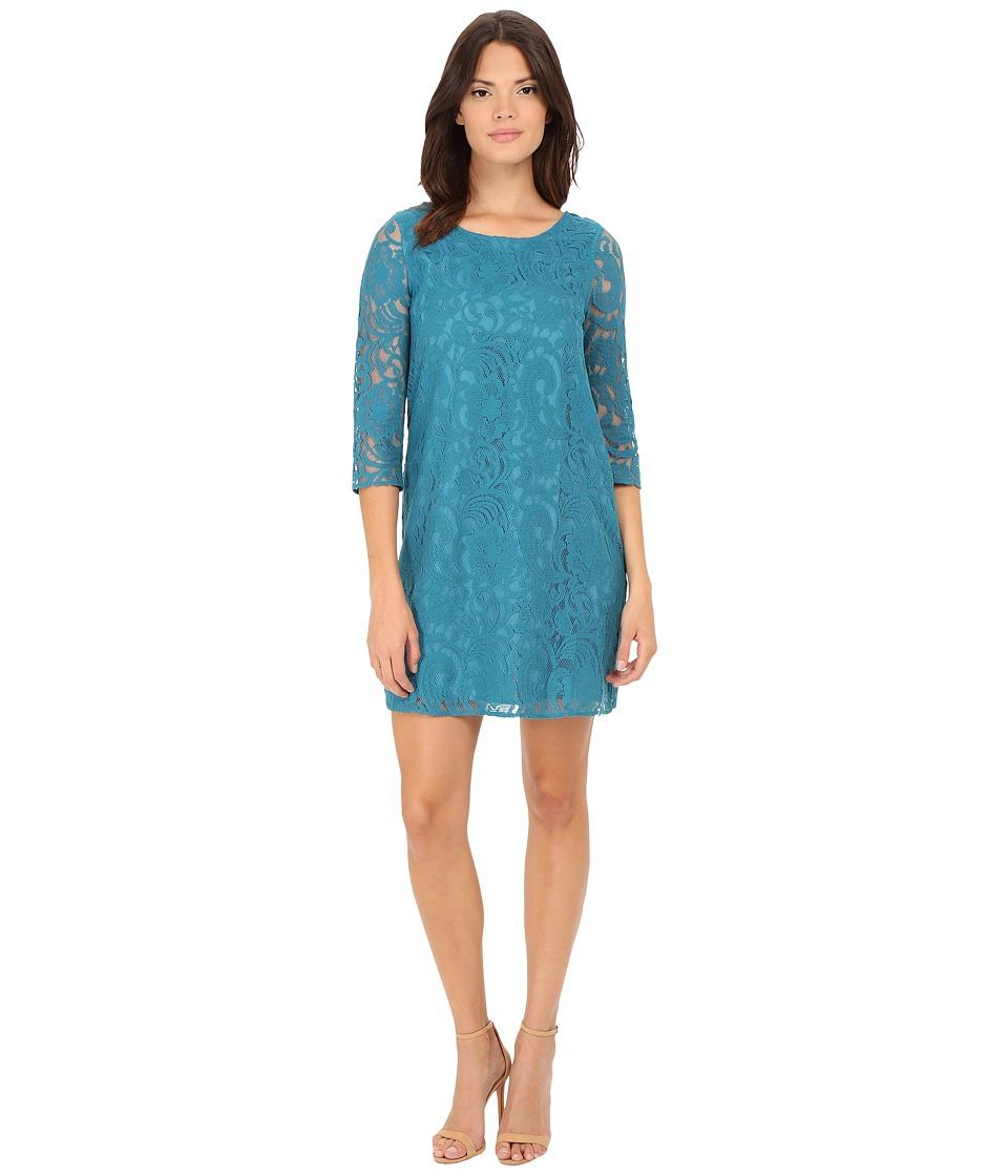 Jack by BB Dakota - Mckale Lace Shift Dress (Ocean Depths) Women's Dress