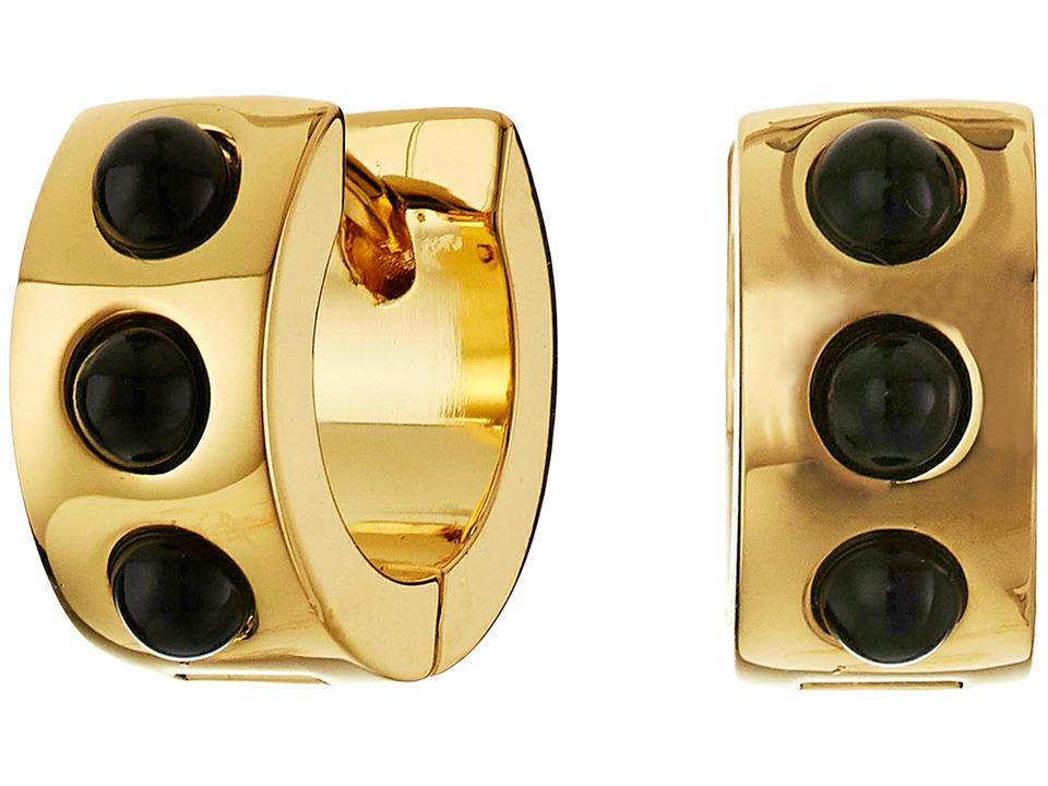 Marc by Marc Jacobs - Cabochon Hinge Huggie Earrings (Black) Earring